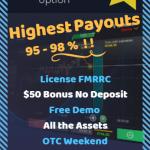 Binary Options 50$ No Deposit Bonus at PocketOption Broker - New Bonus Code & USA Welcome!